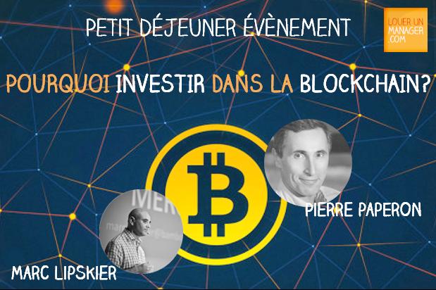 """De retour de la conférence """"Pourquoi investir dans la Blockchain?"""""""